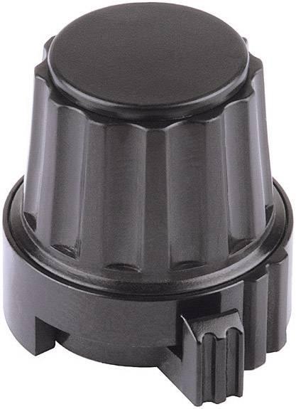 Otočný knoflík s aretací Mentor 4332.6030, 6 mm, černá