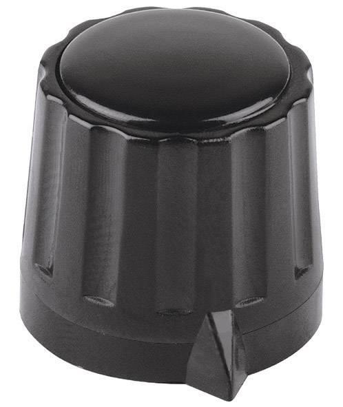 Otočný gombík Mentor 330.4, (Ø x v) 11.5 mm x 13 mm, čierna, 1 ks