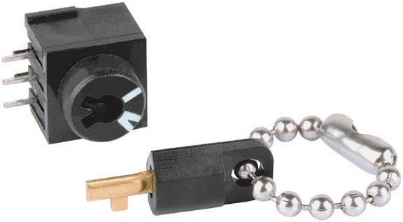 Kľúčový spínač Mentor 1859.1031 1859.1031, 60 V DC/AC, 0.5 A, 1 zap/zap, 1 x 56 °, 1 ks
