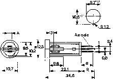 LED signálka Mentor 2684.9012, 24 V/DC, žlutá
