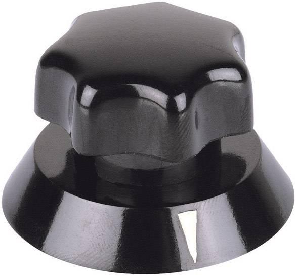 Otočný gombík Mentor 321.611, (Ø x v) 31.5 mm x 22 mm, čierna, 1 ks