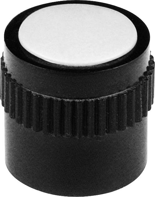 Otočný knoflík s kleštinovým uchycením Mentor 4131.603, pro sérii 15, 6 mm, černá