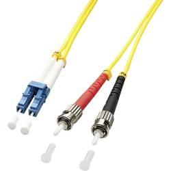 Optické vlákno kabel LINDY 47460 [1x zástrčka LC - 1x ST zástrčka], 1 m, žlutá