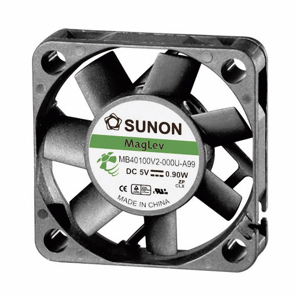 Axiálny ventilátor Sunon MB40101V2-0000-A99 MB40101V2-0000-A99, 12 V/DC, 27 dB, (d x š x v) 40 x 40 x 10 mm