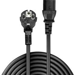Napájací prepojovací kábel LINDY 30336, [1x DE schuko zástrčka - 1x IEC C13 zásuvka 10 A], 3.00 m, čierna