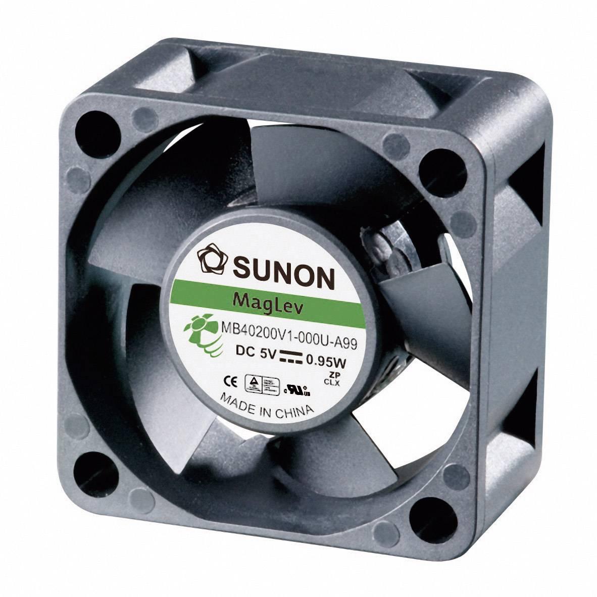 Axiálny ventilátor Sunon MB40201V3-0000-A99 MB40201V3-0000-A99, 12 V/DC, 18 dB, (d x š x v) 40 x 40 x 20 mm