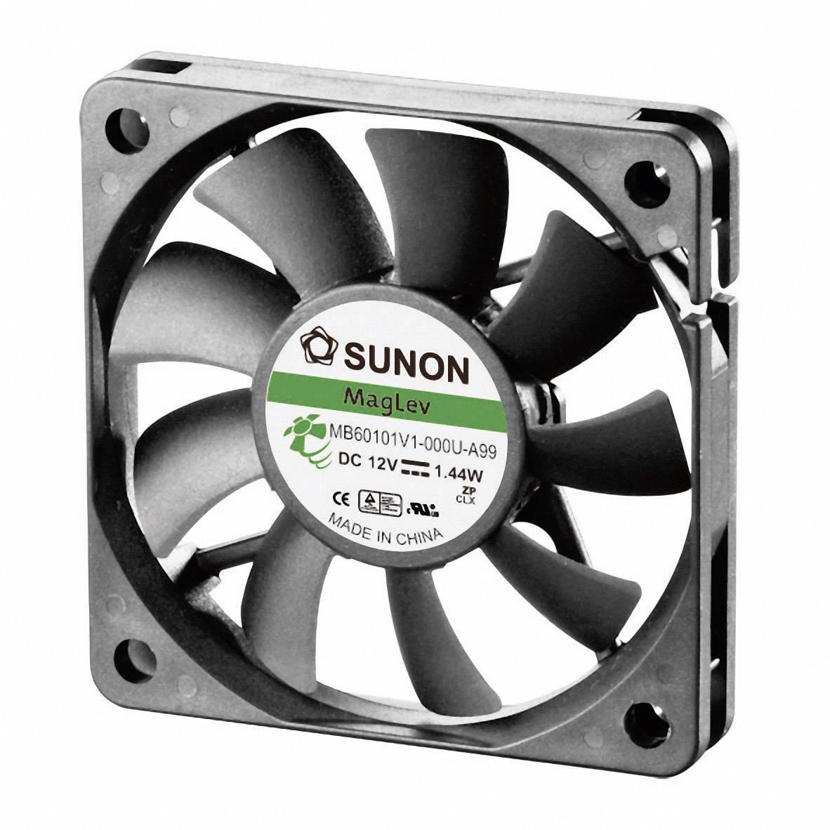 Axiálny ventilátor Sunon MB60101V1-0000-A99 MB60101V1-0000-A99, 12 V/DC, 28.5 dB, (d x š x v) 60 x 60 x 10 mm
