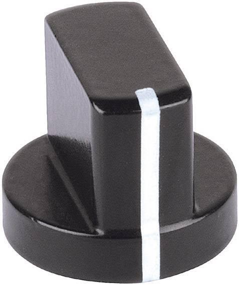 Otočný gombík Mentor 5580.4631, (Ø x v) 12 mm x 14 mm, čierna, 1 ks