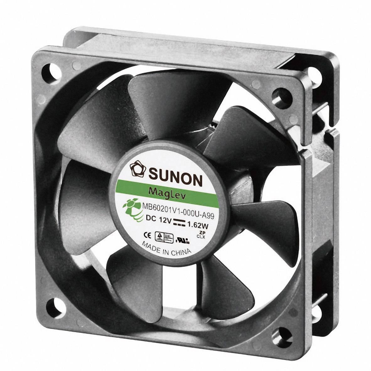 Axiálny ventilátor Sunon MB60201V1-000U-A99 MB60201V1-000U-A99, 12 V/DC, 33.5 dB, (d x š x v) 60 x 60 x 20 mm