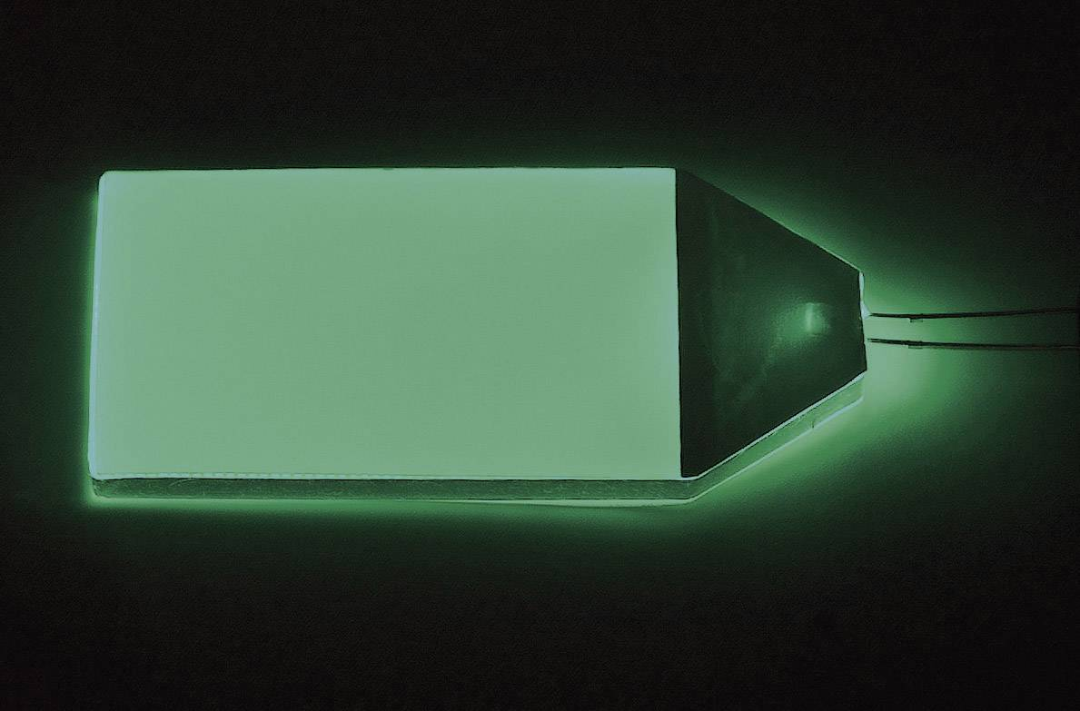 LED podsvietenie displeja TRU COMPONENTS LP-66-32-GN, zelená, (d x š x v) 66 x 32 x 3.5 mm