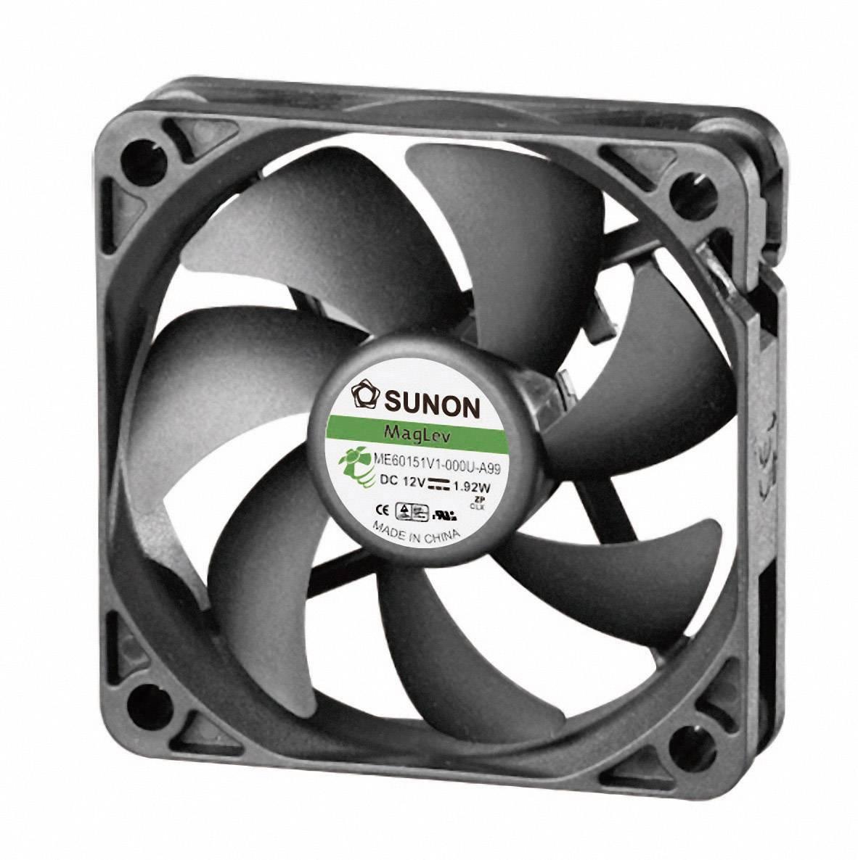 Axiálny ventilátor Sunon ME60151V1-000U-A99 ME60151V1-000U-A99, 12 V/DC, 36.2 dB, (d x š x v) 60 x 60 x 15 mm
