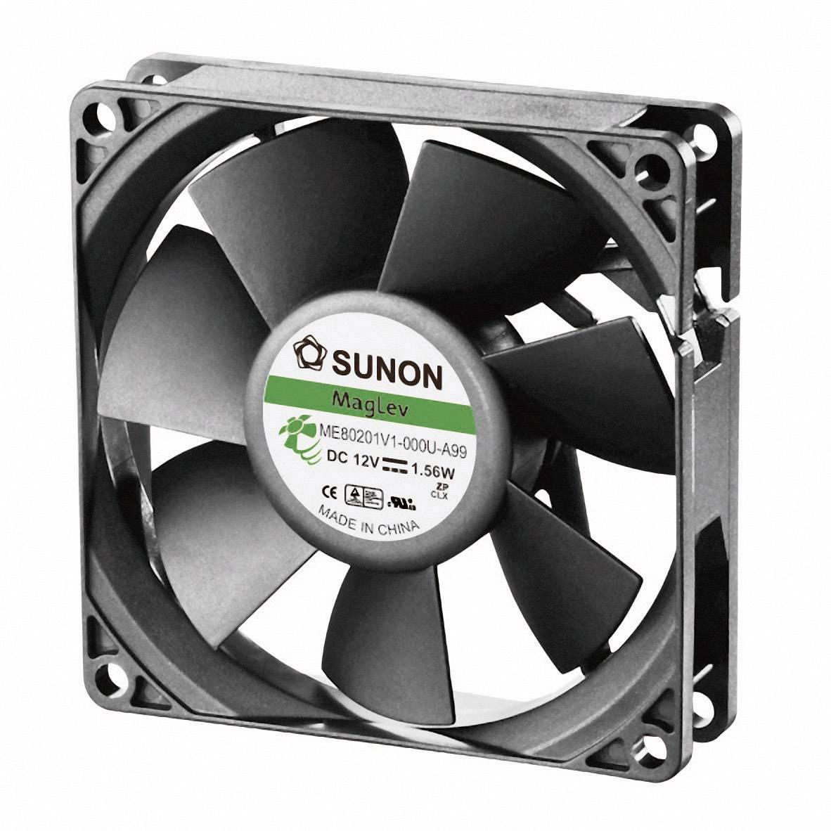 Axiálny ventilátor Sunon ME80201V1-000U-A99 ME80201V1-000U-A99, 12 V/DC, 38 dB, (d x š x v) 80 x 80 x 20 mm