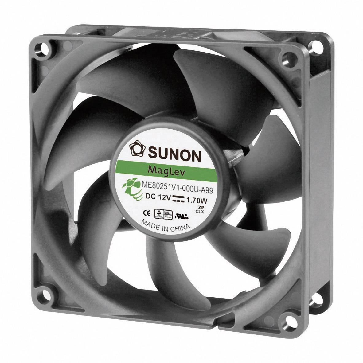 Axiálny ventilátor Sunon ME80251V1-000U-A99 ME80251V1-000U-A99, 12 V/DC, 33 dB, (d x š x v) 80 x 80 x 25 mm