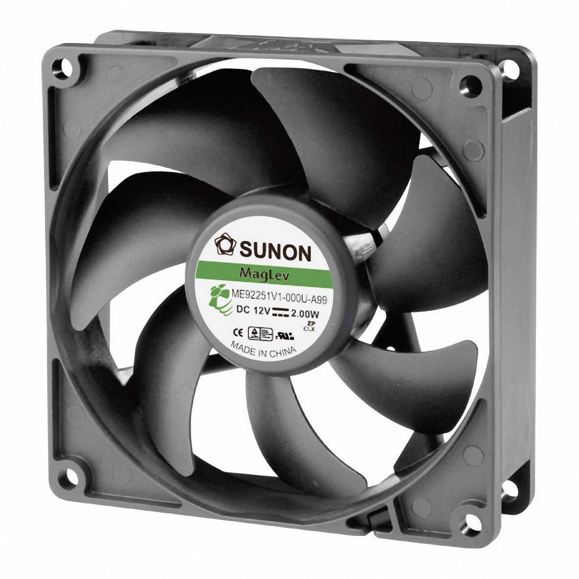 Axiálny ventilátor Sunon ME92251V1-000U-A99 ME92251V1-000U-A99, 12 V/DC, 34 dB, (d x š x v) 92 x 92 x 25 mm