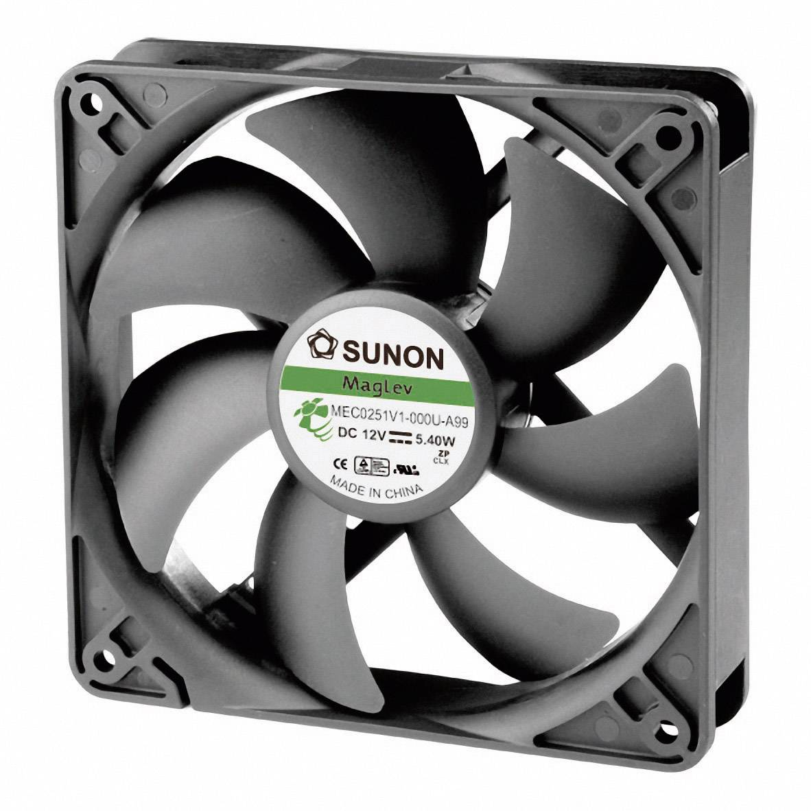 Axiálny ventilátor Sunon MEC0251V1-000U-A99 MEC0251V1-000U-A99, 12 V/DC, 44.5 dB, (d x š x v) 120 x 120 x 25 mm