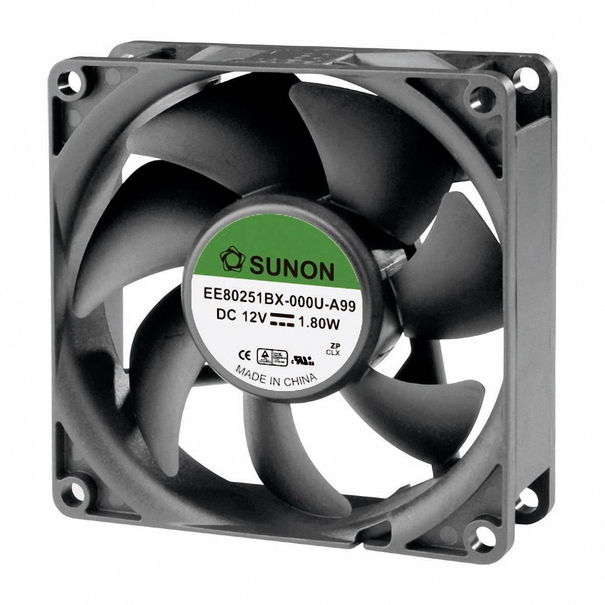 Axiálny ventilátor Sunon EE80201S1-000U-A99 EE80201S1-000U-A99, 12 V/DC, 38 dB, (d x š x v) 80 x 80 x 20 mm