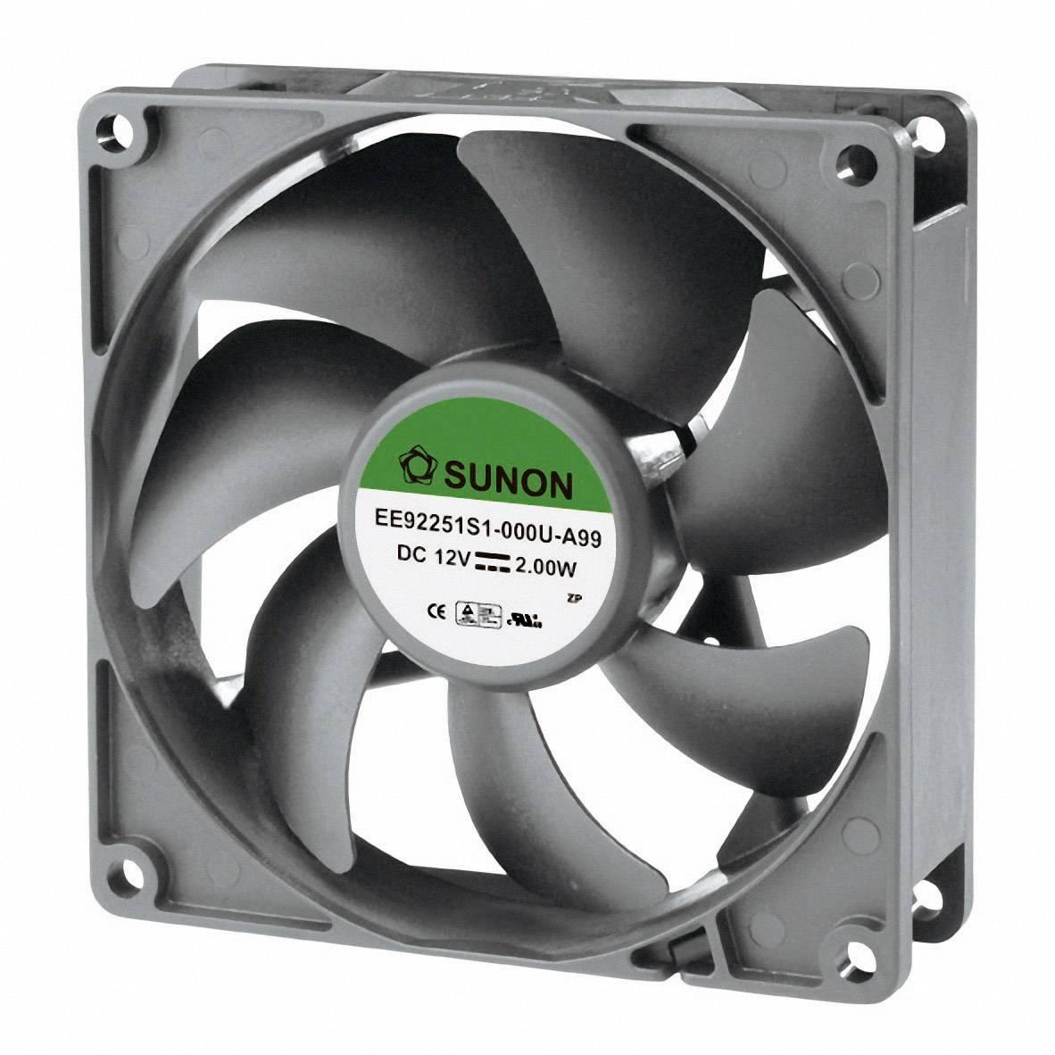Axiálny ventilátor Sunon EE92251S1-000U-A99 EE92251S1-000U-A99, 12 V/DC, 34 dB, (d x š x v) 92 x 92 x 25 mm