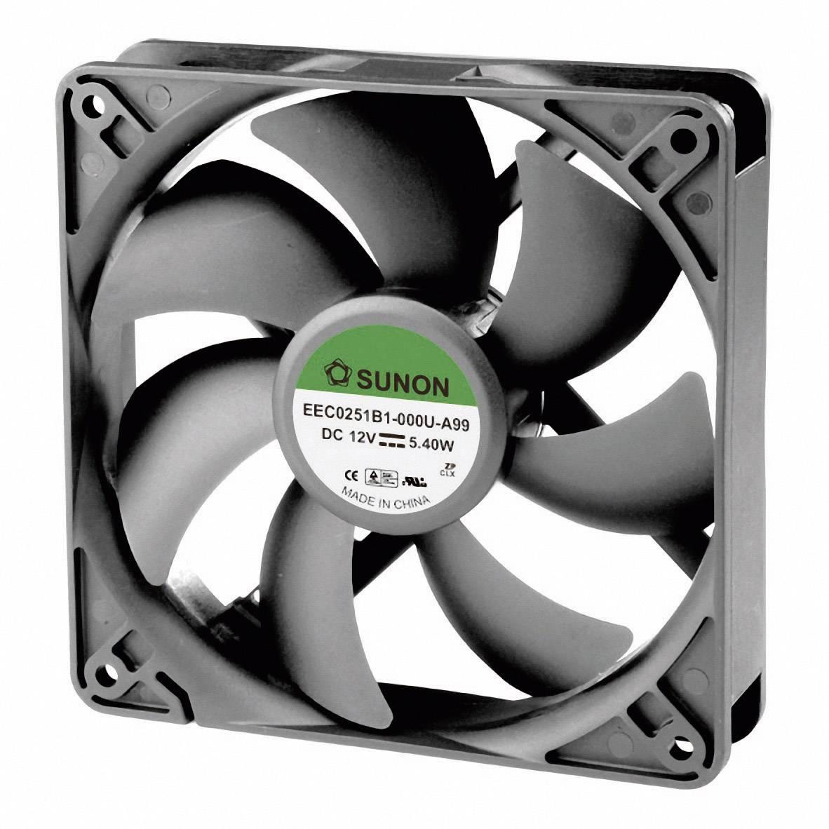 Axiálny ventilátor Sunon EEC0251B1-000U-A99 EEC0251B1-000U-A99, 12 V/DC, 44.5 dB, (d x š x v) 120 x 120 x 25 mm