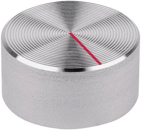 Knoflíky pro měřící přístroje Mentor 523.611, 6 mm, hrubý hliníkový povrch