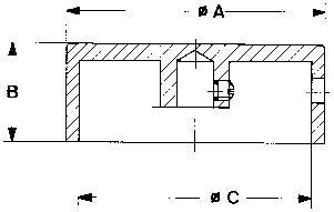 Knoflíky pro měřící přístroje Mentor 523.6191, 6 mm, hladký hliníkový povrch
