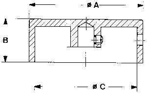 Otočný gombík Mentor 521.6191, (Ø x v) 12 mm x 15 mm, hliník, 1 ks