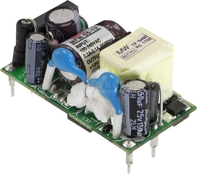 AC/DC zdroj do DPS Mean Well MFM-05-24, 24 V/DC, 0.23 A