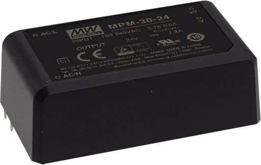 AC/DC zdroj do DPS Mean Well MPM-30-15ST, 15 V/DC, 2 A
