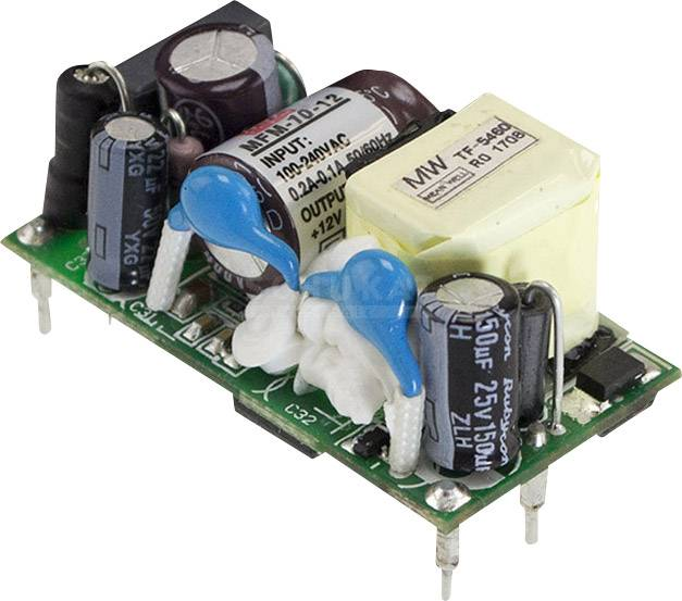 AC/DC zdroj do DPS Mean Well MFM-10-24, 24 V/DC, 0.42 A