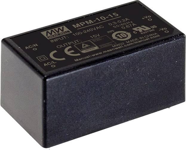 AC/DC zdroj do DPS Mean Well MPM-10-24, 24 V/DC, 420 mA