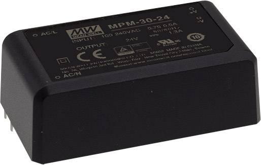 Sieťový zdroj AC/DC do DPS Mean Well MPM-30-48ST, 48 V/DC, 630 mA