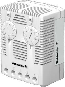 Hygrostat do skříňového rozvaděče Weidmüller HYTH-SW 40-90% r.F. CO 2558280000, 1 přepínací kontakt, (d x š x v) 38 x 59 x 80.50 mm