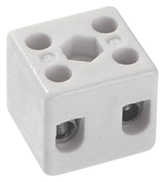 Porcelánová svorka Bachmann 950.004 pro kabel o rozměru -4 mm², pólů 1, 1 ks, bílá