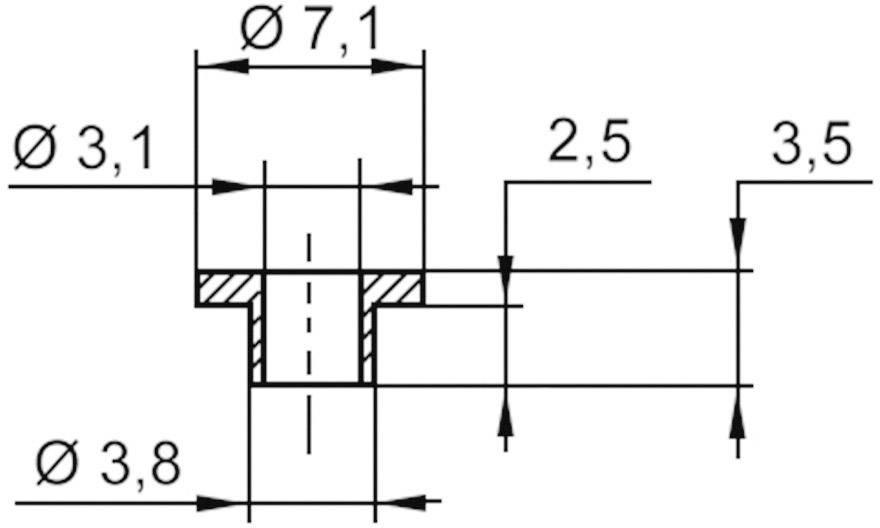 Izolační průchodka KSS V5357, 7.1/3.1 mm