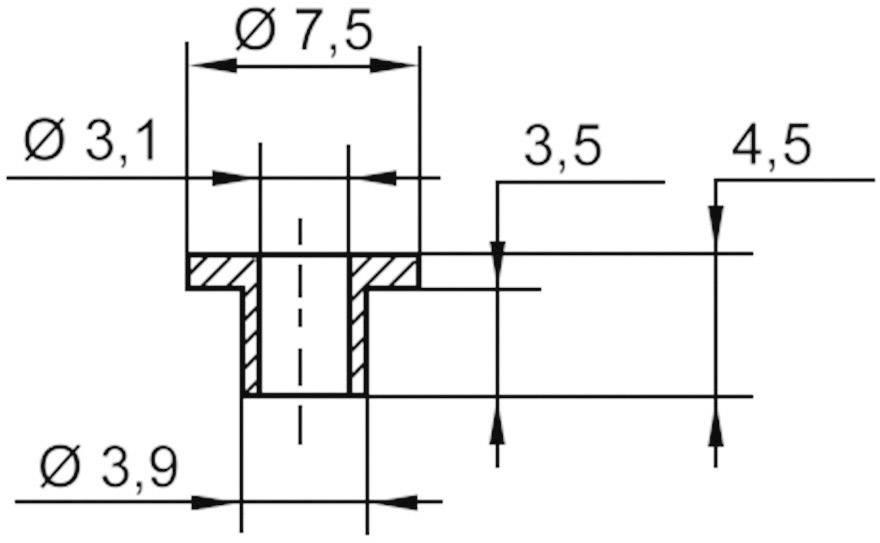 Izolační průchodka KSS V5358, 7,5/3,1 mm