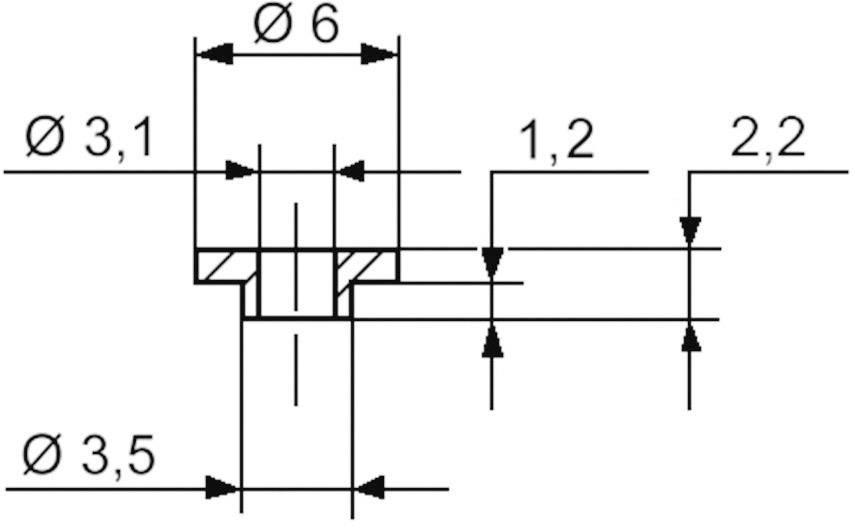 Izolační průchodka KSS V5359, 6/3,1 mm