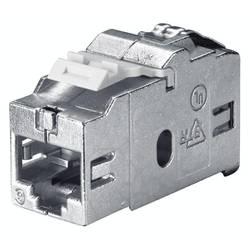 RJ45 sieťový adaptér Bachmann 940.044 CAT 6, [1x RJ45 zásvuka - 1x RJ45 zásvuka], strieborná