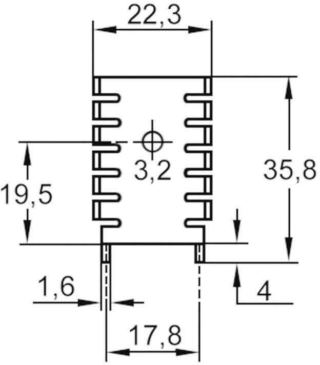 Svorky tranzistora ASSMANN WSW V5641B-T, 21 K/W, (d x š x v) 35.8 x 22.3 x 6.4 mm