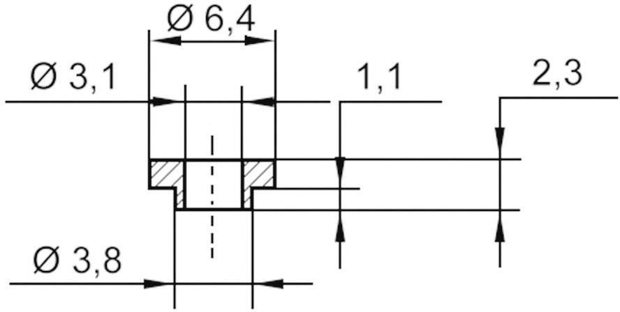 Izolační průchodka KSS V5731, 6.4/3.1 mm