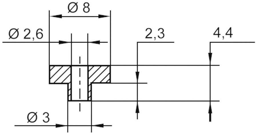 Izolační průchodka KSS V5817, 8/2.6 mm