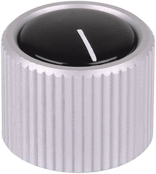Otočný gombík Mentor 531.4, (Ø x v) 12 mm x 15 mm, hliník (eloxovaný), 1 ks