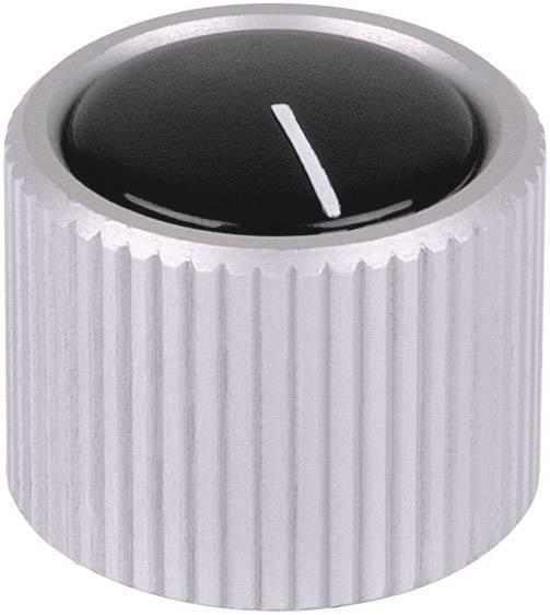 Otočný gombík Mentor 531.6, (Ø x v) 12 mm x 15 mm, hliník (eloxovaný), 1 ks