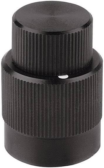 Otočný gombík Mentor 6125.3066, (Ø x v) 22 mm x 32.5 mm, čierna, 1 ks