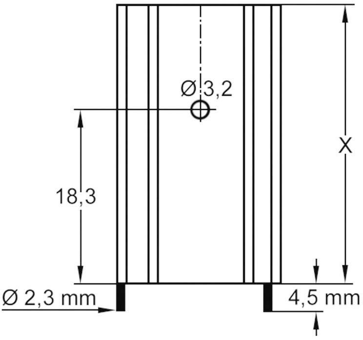 Profilový chladič s piny Assmann WSW V6560X, 37,5 x 29 x 12 mm, 8,5 K/W