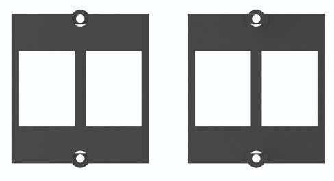 Bachmann 917.061 Bachmann 2x zásuvka černá Keystone černá