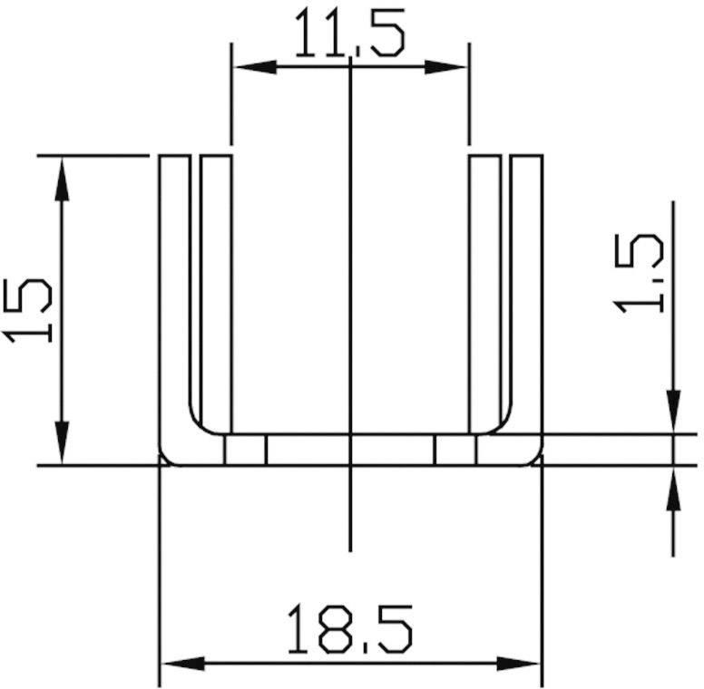 Chladič ASSMANN WSW V7238E1, 16 K/W, (d x š x v) 28 x 18.5 x 15 mm