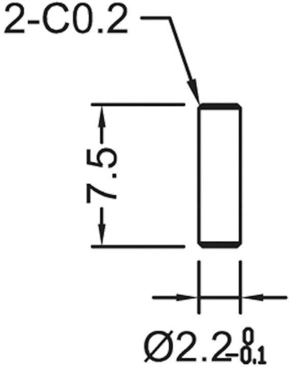 Profilový chladič s piny Assmann WSW V7466X, 38,1 x 45 x 11,94 mm, 7 K/W