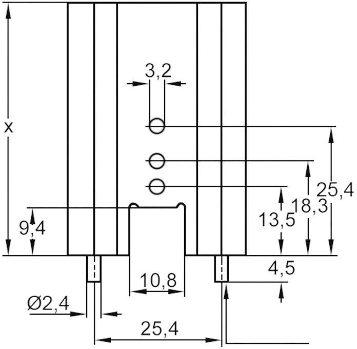 Profilový chladič s piny Assmann WSW V7477X, 38,1 x 35 x 12,7 mm, 11 K/W