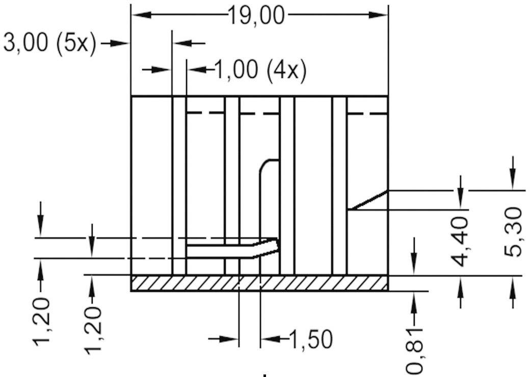 Zásuvný chladič Assmann WSW V8508A pro TO 220, 19 x 12,8 x 12,7 mm, 21 K/W