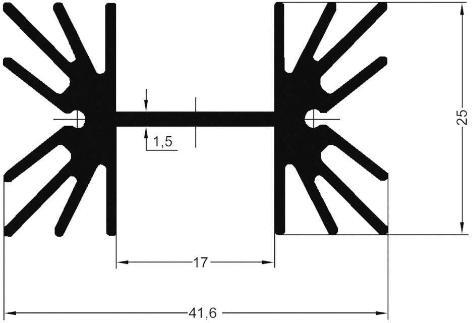 Lisovaný chladič ASSMANN WSW V8511Y V8511Y, 4 K/W, (d x š x v) 50.8 x 41.6 x 25 mm, TO-220, TOP-3, SOT-32