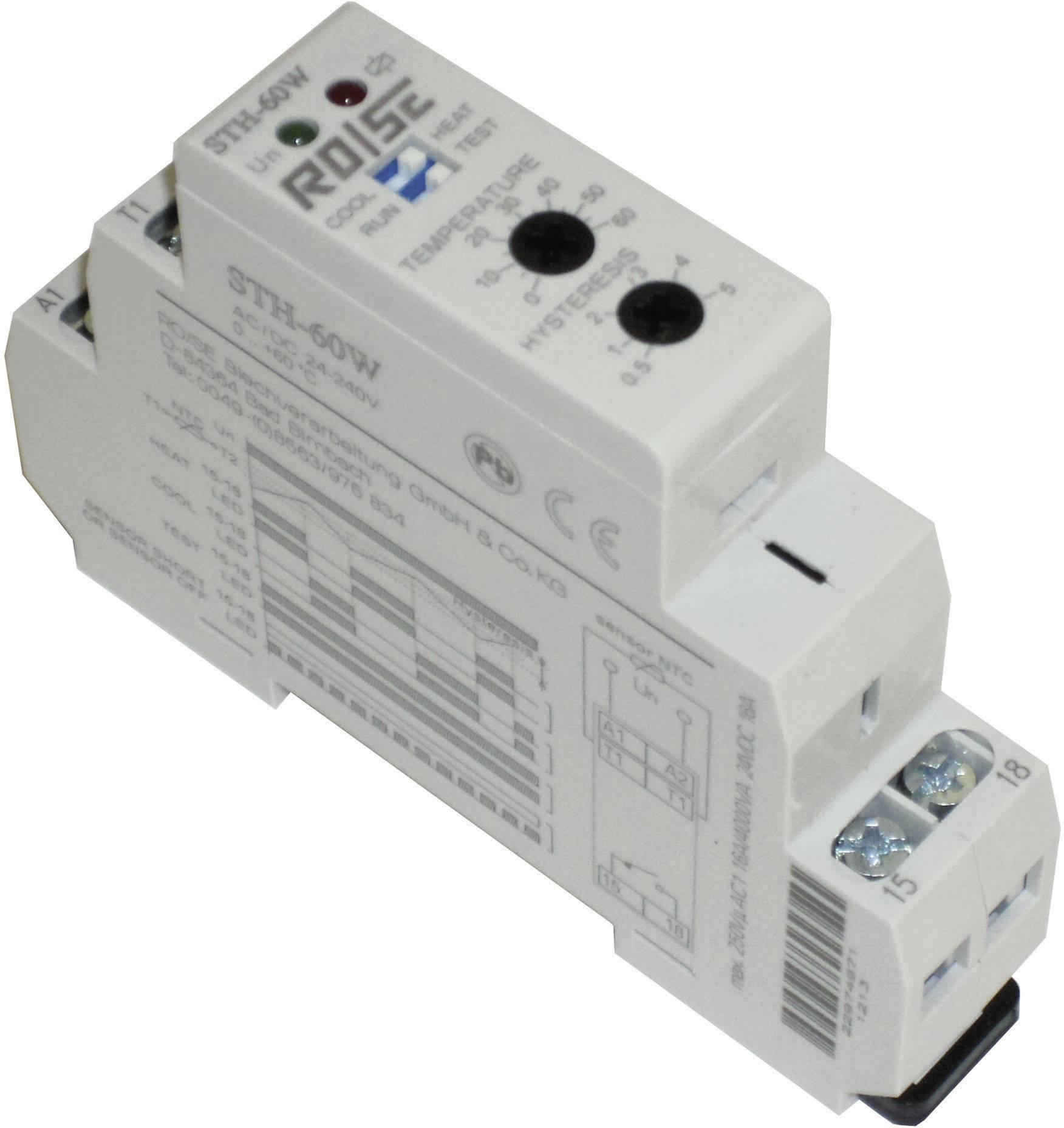 Termostat na DIN lištu Rose LM STH-60W, externí senzor 3 m